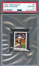 1993 Topps Micro #8 MARK WOHLERS Atlanta Braves PSA 10 GEM MINT Pop 1