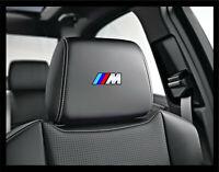 5x BMW M Logo Headrest Car Seat Decals Badge Stickers Performance Motorsport E F