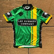 SUGOI Green Yellow Black Graphic Cycling Jersey 1/4 Zip Polyester Men's Medium