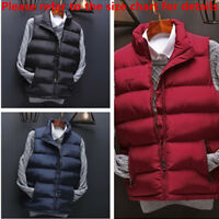 Mens Winter Warm Cozy Coat Down Quilted Waistcoat Vest Sleeveless Jacket Outwear