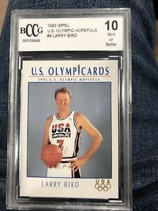 1992 Impel U.S. Olympic Hopefuls #9 Larry Bird BCCG 10