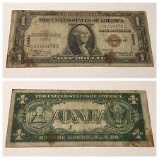 VINTAGE $1 HAWAII BROWN SEAL S-C BLOCK ONE DOLLAR 1935-A SILVER CERTIFICATE BILL
