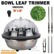 """16"""" Stainless Hydroponics Trimmer Cutter Bowl Leaf Spin Pro Tumble Bud Machine"""