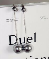 14K Gold Plated Pearl Dangle Drop Fashion Earrings 019