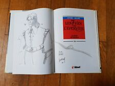 Juillard dessin original dédicacé Les 7 vies de l'Epervier EO T.6