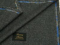 CASHMERE/WOOL JACKETING FABRIC, BLACK/GREY DOT DESIGN 2.5MTRS - MADE IN ENGLAND