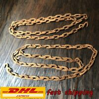 "2 PCS Vintage Carved Wooden Chain Folk Art Rare Approx 39"" Ship by DHL Express"