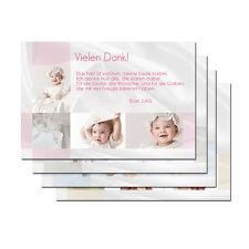 20 x Taufe Einladungskarte Danksagung mit Foto Karte + Kuvert
