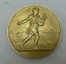Médaille en vermeil, argent massif doré, agriculture, graveur Lagrange, 1930.