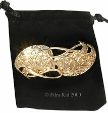 Gandalf GOLD Plated Brooch Hobbit LOTR Leaf Lorder Lord of the Rings Pin Badge