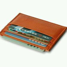 Vintage Men Women PU Leather Wallet Business Casual Slim Credit Card ID Holder