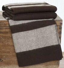 Lavish Home Australian Wool Blanket Full / Queen Southwest Pattern Brown