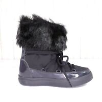 New Crocs LodgePoint Black Snow Boots Womens Size 5 Lace Up New with tags nwt