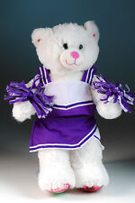 "New Teddy Bear cheerleading clothes purple fits 14""-18"" bear"