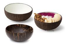 Schale aus echter Kokosnuss von Coconut Bowls Müsli Salat Deko Schüssel