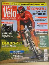 TOP VELO N°127: OCTOBRE 2007: VELOS ULTRALIGHT - PARIS BREST PARIS -CYFAC ABSOLU
