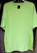New Nike Men's T Shirt  M Short Sleeve Dri-Fit Neon Yellow.