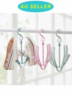 5 PCS Hanging Shoes Rack Organizer Storage Slipper Home Sun Dry Hanger