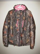 Ladies Hooded Winter Hunting Jacket Camo / Pink Size Large