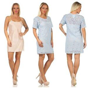PINKO 2 tlg. blickdichtes Kleid Sommerkleid Cocktailkleid Rosa Hellblau S M