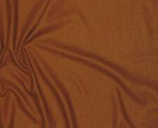 "RAW SILK NOIL Fabric CARAMEL BROWN -By The Yard- 45"""