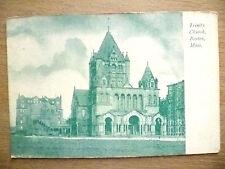 Religious Postcard- Trinity Church, Boston, Mass