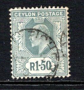 Ceylon KEVII  1904-05 (Wmk Multi CA) 1r.50 Grey SG287 Used