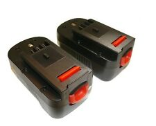 2 x 18V 2.0AH Ni-CD Battery for Black & Decker Firestorm 18 Volt Cordless Drill