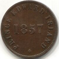 1857 CANADA (PEI) 'SELF GOVERNMENT AND FREE TRADE' HALF PENNY COIN