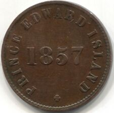 1857 CANADA (PEI) 'SELF GOVERNMENT AND FREE TRADE' HALF PENNY