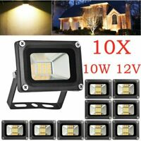 10X 10W 12V Waterproof LED Flood Light Warm White Outdoor Garden Yard Spot Lamp