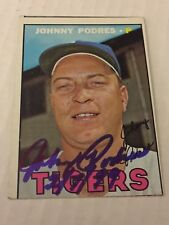 1967 Topps 284 Johnny Podres Autographed Auto Signed Card
