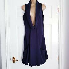 Mais il est ou le Soleil Sleeveless Navy Cowl Neck Lagenlook Tunic Dress Size 12