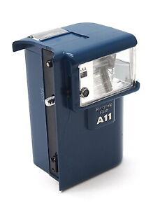 Rare Blue Olympus A11 Electronic Flash for XA, XA1, XA2, XA3 (Damaged) UK Dealer