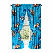 Disney Cars 2 Window Drapes Curtain Drapery Set Boys Kids Bedroom 42 x 63 Each