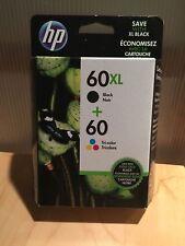 GENUINE HP 60XL BLACK 60 TRI COLOR COMBO PACK INK CARTRIDGE N9H59FN