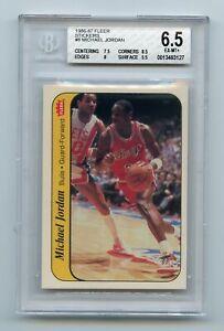 Michael Jordan 1986-87 Fleer Stickers #8 Rookie Card Bulls BGS 6.5 EX-MT+ AG0823