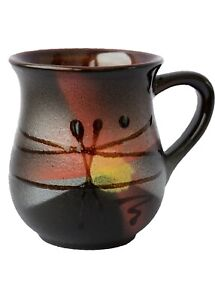 Pottery Handmade Coffee Mug Gift Idea «Sunrise» 10 fl oz