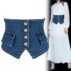 Lady Fashion Waist Belt Corset Cinch Waistband for Dress Women Denim Wide Belts