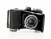 Fotoapperat Beltica Cludor+Tessar 2,8/50mm T mit Ledertasche aus den 50iger Jahr