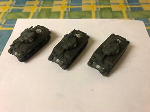 1:72 20mm WW2 Sherman Tanks US x 3