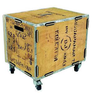 Werkhaus Rollbox Teekiste Rollcontainer Tisch Box RB6006