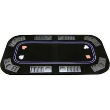JPCommerce 3in1 3 in 1 Poker Craps and Roulette Folding Table Top with Cup Ho...