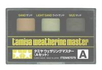 Tamiya Weathering Master Effect Set A Powders Models Sand/Light Sand/Mud 87079