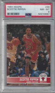 1994 Hoops #30 SCOTTIE PIPPEN - PSA 8 (Pop 1, 1 higher) - Chicago Bulls HOF
