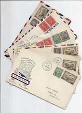 1933 Canada FFC Lot of 6 - Lynx, Mink, Gopher, Badger Cachets - Saskatchewan