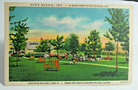 1940 SOUTH BEND INDIANA Postcard of Bob's Bar B Que, Junction of 2 & 26 Linen PC