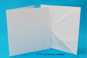 Square Card Blanks and Envelopes Ideal for Card Making and Wedding Stationery