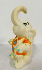 1965 Rubber Elephant Baby Rubber Squeeze Toy Made In Germany Clean