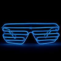 c895455f9937 GloFX Luminescence Shutter Frames- White w Royal Blue Rave Prism LED  Diffraction
